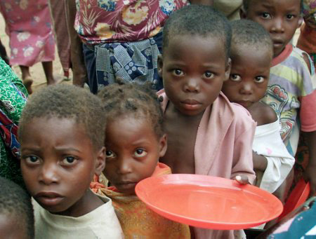 Children needing food