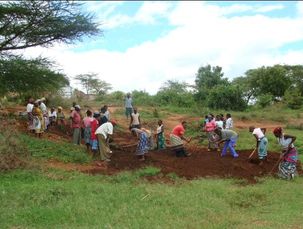 Mwatate Singila community preparing land for well digging